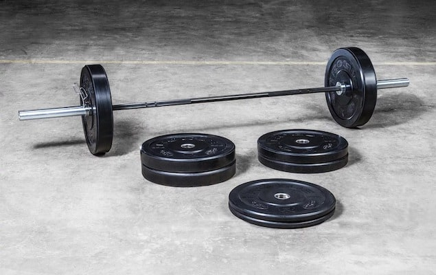 Rogue's Bravo bar and bumper set is the best olympic weight set on the market