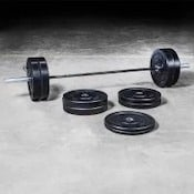 The Bravo bar and bumper set comines a great quality barbell with good bumpers, making it arguably the best olympic weight set on the market