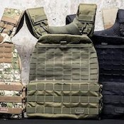 This plate carrier from 5.11 is easily the best weighted vest for crossfit WODs