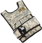Camo colored CROSS101 weighted vest for crossfit