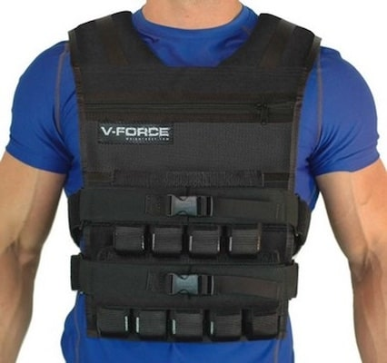 The V-force is a us made weighted vest that's great for crossfit
