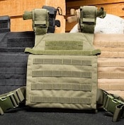 The sentry plate carrier from Condor is a good low-cost weighted vest you can use for crossfit WODs