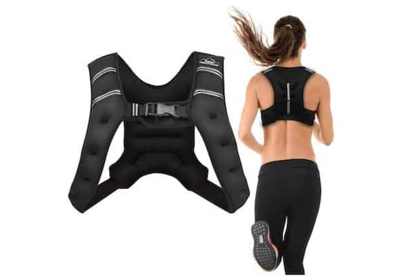 The Aduro Sports weighted vest is unisex, but ideally designed for a woman's anatomy