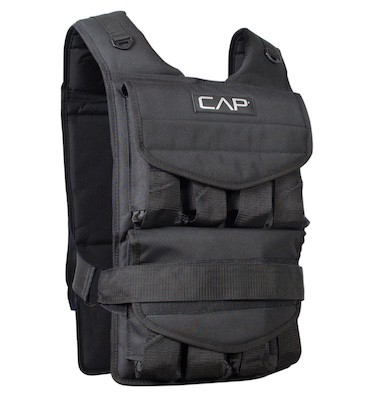 CAP barbell aren't typically known for their weight vests, but this is one of the best weighted vests for bodyweight training