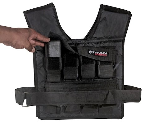 Hand lifting weight pocket on the titan fitness weight vest