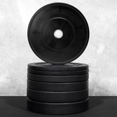 Fringe Sport make great budget bumper plates in the onefitwoner black bumpers