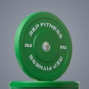 Rep Fitness' color bumper plates are some of the best bumpers around