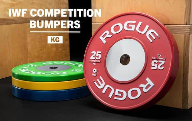 Rogue Fitness' color training bumpers are some of the best color bumper plates on the market