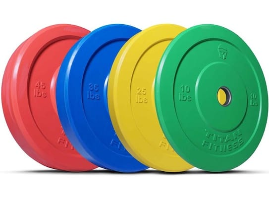 Titan fitness have made some great, albeit odd, color bumper plates