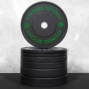 The contrast bumpers from Fringe Sport are some of the best bumper plates for crossfit