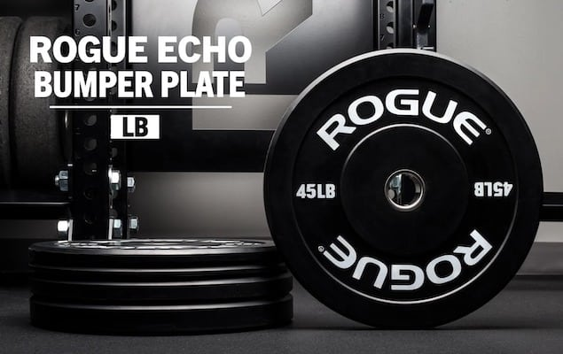 Rogue's Black Echo bumpers are arguably the best budget options if you're looking for crossfit bumper plates