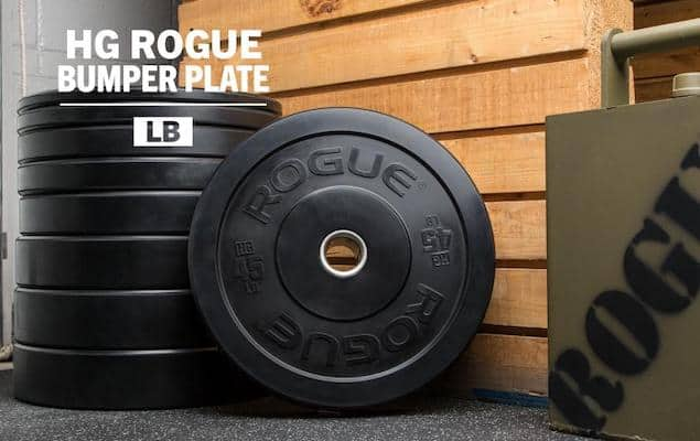 Rogue's HG2.0 black bumpers are the best bumper plates for crossfit available