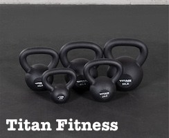 Titan Fitness have great kettlebells for apartments and small spaces