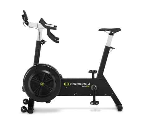 Black and silver Concept2 Bikeerg upright exercise bike