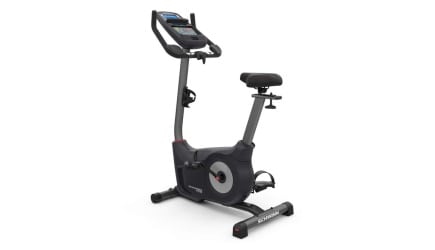 Black and grey Schwinn 170 upright exercise bike