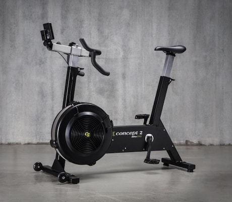 Side on view of the best exercise bike on the market, the Concept 2 bikeerg