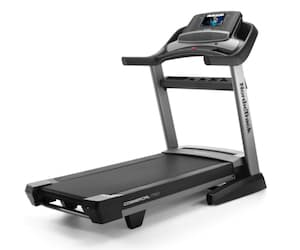 Black and grey nordick track 1750 commercial treadmill