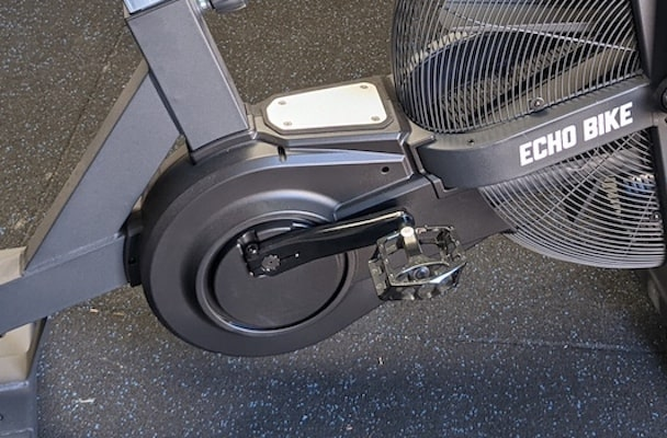 Rogue echo bike's enclosed belt drive