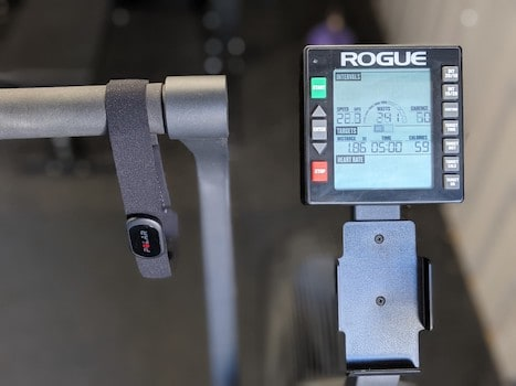 Rogue air bike console pus Polar H10 heart rate monitor