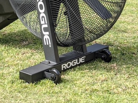 Transport wheels of Rogue Echo Bike on Grass