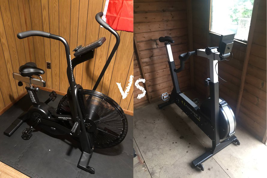 Air bike vs bikeerg feature image