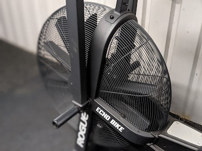 The fan and housing on a Rogue Echo Air Bike