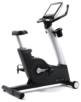 Black and silver upright exercise bike as an example