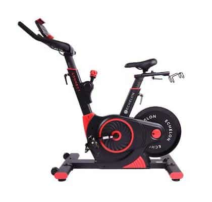 Red and black echelonfit ex-3 home spinning bike